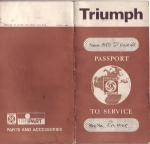 Original Dealer Passport to Service for RVL 506R