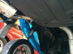 Rear axle being taken off the car_11